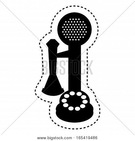 retro telephone isolated icon vector illustration design