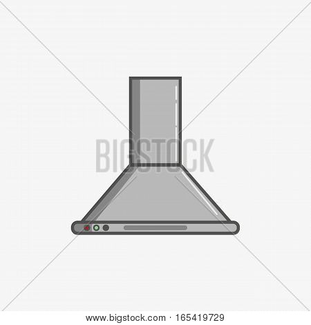 A simple flat icon for additional ventilation at kitchen
