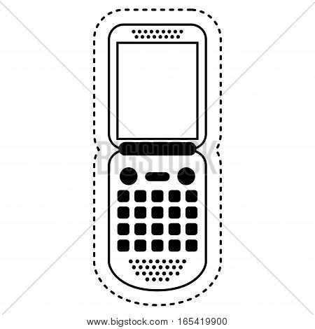 cellphone technology isolated icon vector illustration design