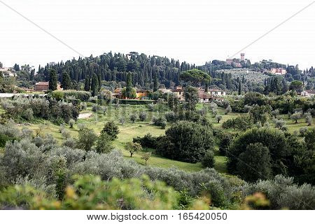 Beautiful Tuscany. Trip to Italy. Nature view