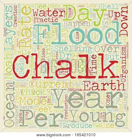 Chalk And Noah s Flood text background wordcloud concept