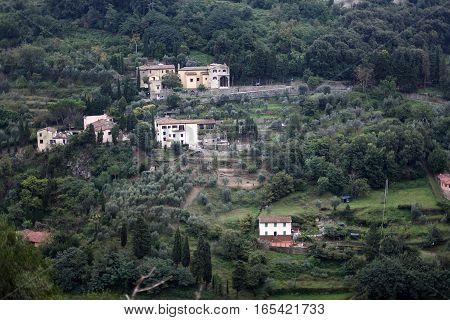 The beautiful scenery of Italy. View of the village