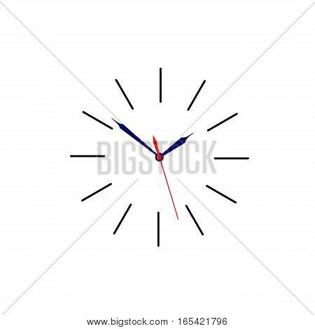 Clock sign without body for use as icon placed on white background