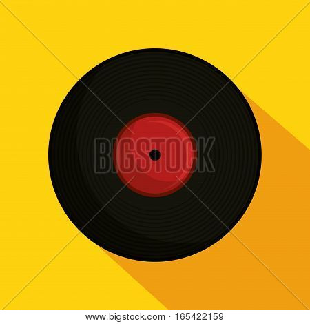 vinyl retro music icon vector illustration design