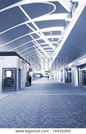 Interior details of main terminal building of airport