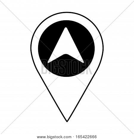 arrow location isolated icon vector illustration design