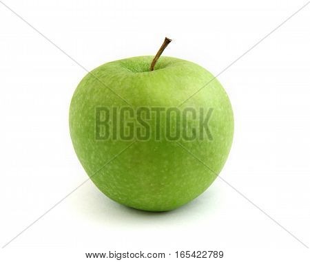 Simple green apple isolated over white background