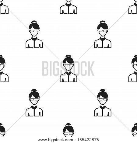 Business woman icon black. Single avatar, peaople icon from the big avatar black. - stock vector