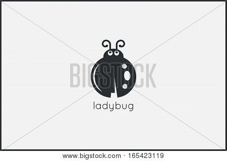 Ladybug animal logo design background. 8 eps