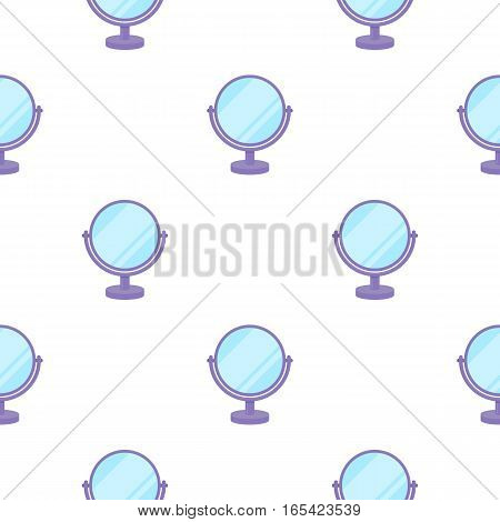Mirror icon in cartoon style isolated on white background. Make up pattern vector illustration.