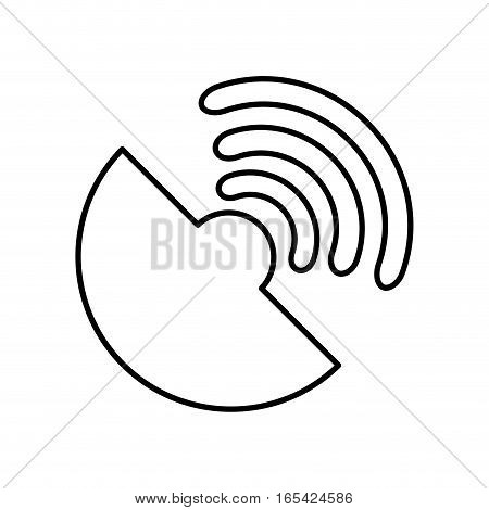 antena satellite isolated icon vector illustration design