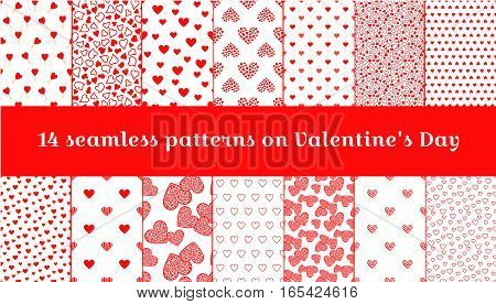 Seamless pattern on Valentine's Day. Seamless texture with hearts ideal for celebrations wedding invitation mothers day and valentines day