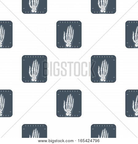 X-ray hand icon cartoon. Single medicine icon from the big medical, healthcare cartoon. - stock vector