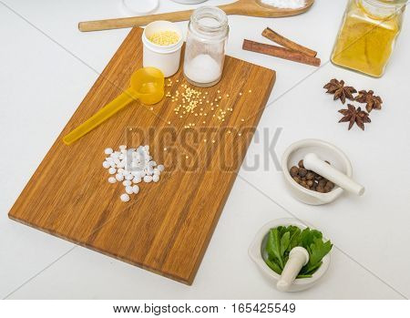 Skincare Concept. Ingredients For Homemade Cosmetics And Makeup.