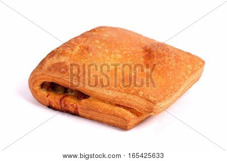 Meat Filled Puff Pastry Strudel
