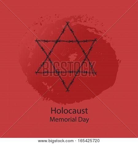 Holocaust Memorial Day. Vector illustration. World War II