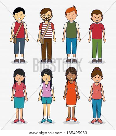 multicultural people avatars icon vector illustration design