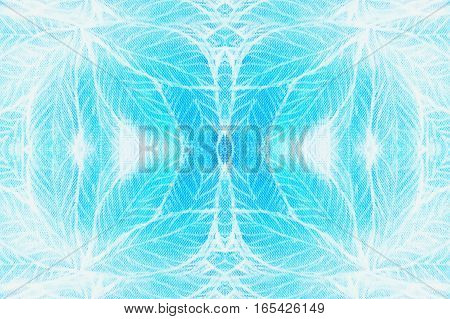 abstract background leaf pattern with mirror effect structure