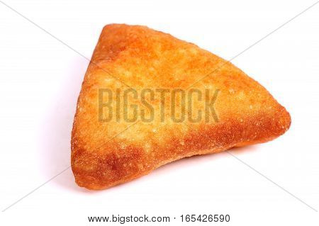 One triangle Pirozhok isolated over white background