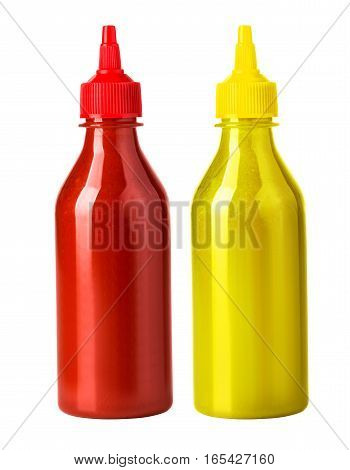 Ketchup And Mustard Bottl