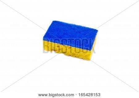 New kitchen sponge isolated on the white background