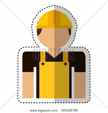 builder avatar character icon vector illustration design