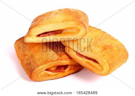 Bacon And Cheese Filled Puff Pastry Strudels
