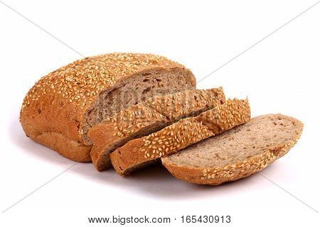 Round Rye Bread Covered With Sesame Seeds
