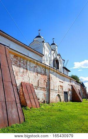 Gate Church of the Transfiguration in Kirillo-Belozersky monastery near City Kirillov Vologda region Russia.