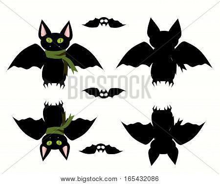 Bats set icon. Vector illustration. Vector illustration