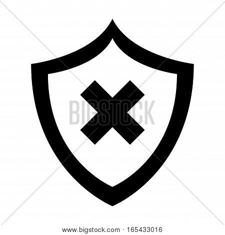 shield security isolated icon vector illustration design
