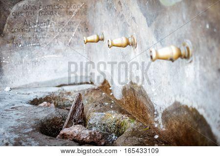 This is the Enix village fountain, Almeria, Andalusia, Spain.