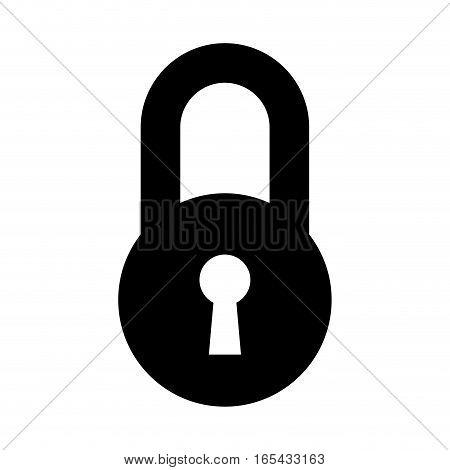safe padlock isolated icon vector illustration design