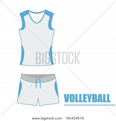 Isolated volleyball uniform on a white background, Vector illustration