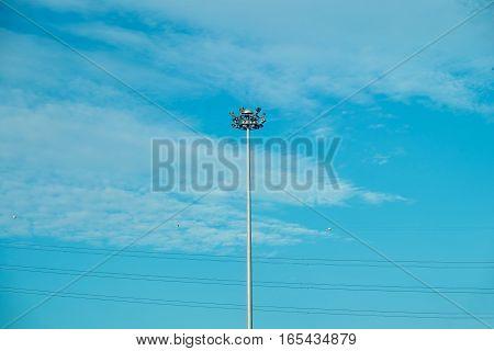 Streetlight Streetlamp Lamp post on blue sky