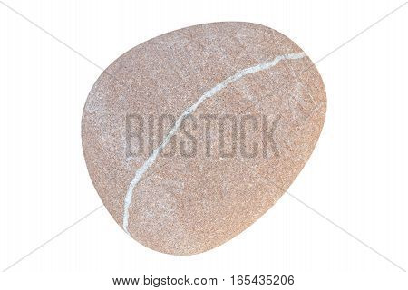 Ttextured stone pebbles isolated on white background
