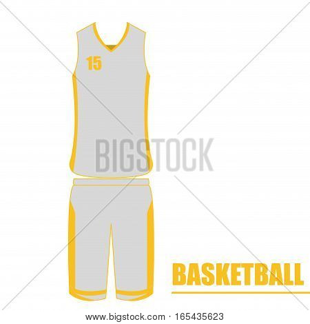 Isolated basketball uniform on a white background, Vector illustration