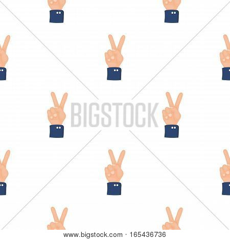 Peace icon in cartoon style isolated on white background. Patriot day pattern vector illustration.