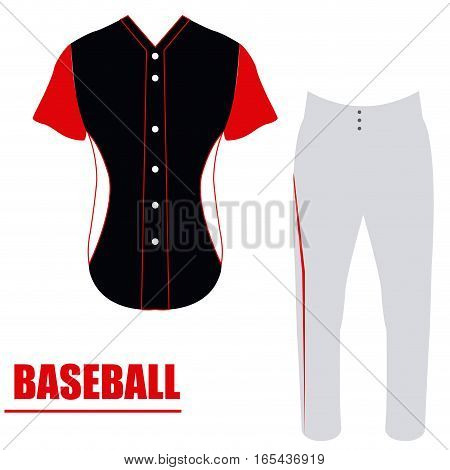 Isolated baseball uniform on a white background, Vector illustration