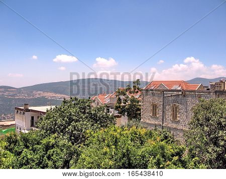 Panorama of Old City Safed Israel June 29 2008