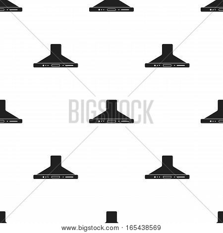 Exhaust hood icon in black style isolated on white background. Household appliance pattern vector illustration.