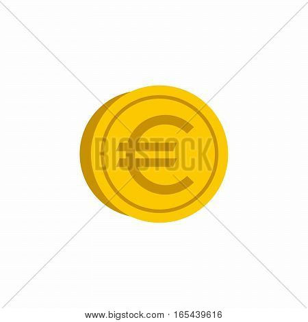 Euro coin vector design isolated on white background.