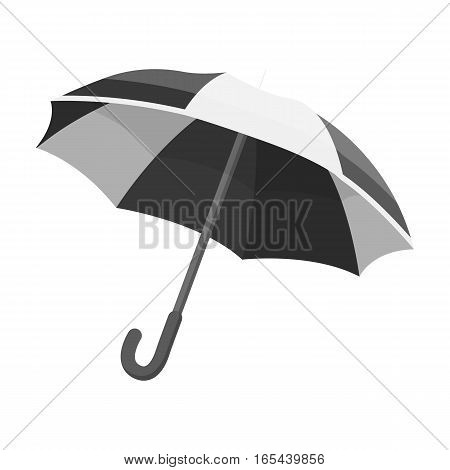 Umbrella icon in monochrome design isolated on white background. France country symbol stock vector illustration. - stock vector