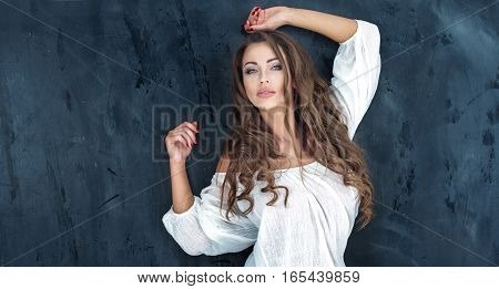 Beautiful Brunette Posing.