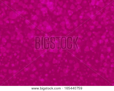 Rectangle vector background translucent hearts Valentine's Day