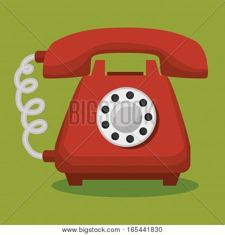 old telephone isolated icon vector illustration design