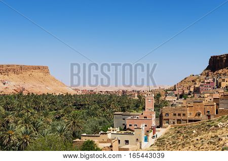 Berber village near the Dades Gorge in Morocco North Africa