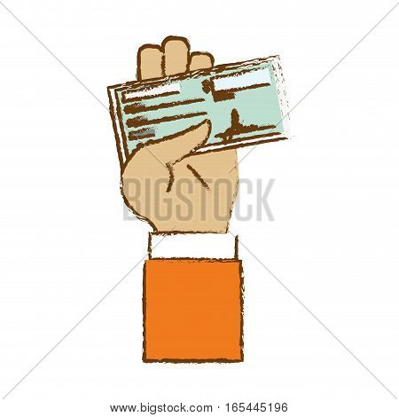check with signature payment economy related icon image vector illustration design