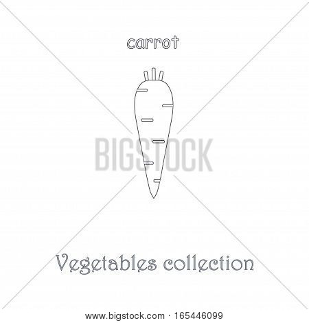 Line carrot icon, vegetables icon collection stock vector illustration