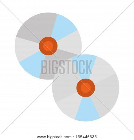two cds icon image vector illustration design